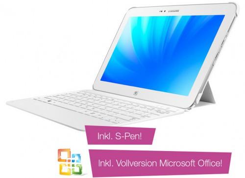 Samsung ATIV Tab 3 + Tastatur + S-Pen + MS Office Home & Student 2013 um 514 € *Update* jetzt ab 455 €