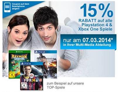 Müller: 15% Rabatt auf alle PlayStation 4- und Xbox One-Spiele