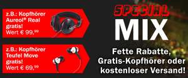 Teufel-Angebote mit guten Rabatten: z.B. Teufel Kombo 42 XBE + Aureol Real On-Ear-Kopfhörer um 474,98 €