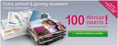 100 und mehr Fotoabzüge für 2,99€ bei Photobox