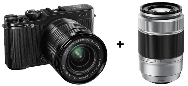 Systemkamera Fujifilm X-A1 mit 16-50 mm- und 50-230 mm-Objektiv für 460 € - 34% sparen