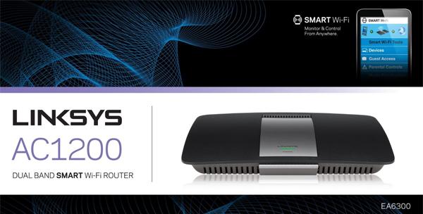 Dual-Band-Router Linksys AC1200 (867 MBit/s WLAN + USB 3.0) für 57,89 € - 28% sparen