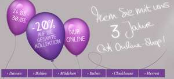 C&A Österreich: 20% Rabatt auf alles im Online-Shop *Update* ab 27.03 in den Filialen