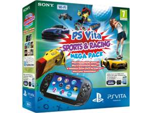 Sony PlayStation Vita (WiFi) inkl Mega Pack Sports + Racing um 150 € - bis zu 23% sparen