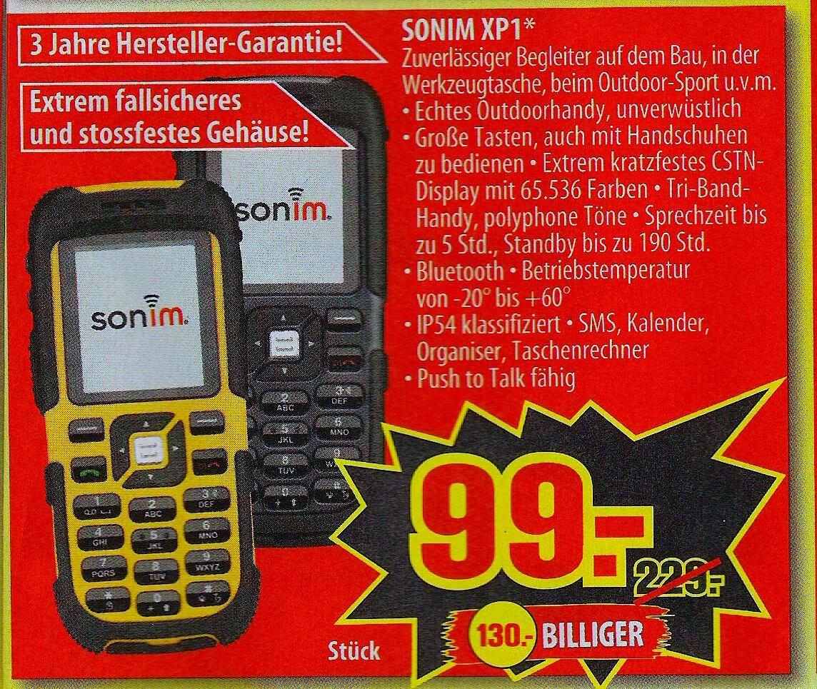 Sonim XP1 - Outdoorhandy - für nur 99€ @Penny