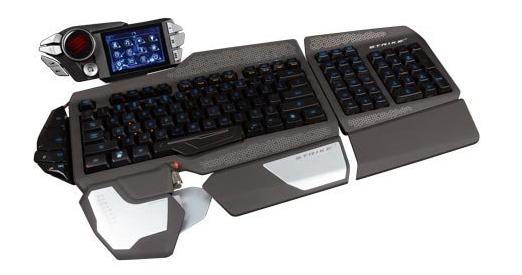 Gaming-Tastatur Mad Catz S.T.R.I.K.E. 7 mit Touchscreen für 179 € - 31% sparen