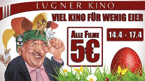 Günstig ins Kino in der Lugner Kino City - vom 14.4 bis 17.4 alle Filme nur 5 €