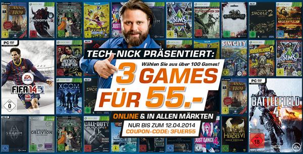 3 Spiele für zusammen 55 € bei Saturn Deutschland *Update* jetzt auch bei Amazon