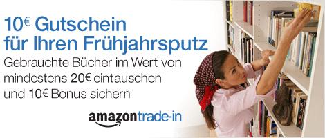 Amazon Trade-In: Für 20 € Bücher eintauschen und 10 € Bonus erhalten