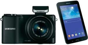 Samsung NX2000 (20-55 mm) + Samsung Galaxy Tab 3 Lite + Photoshop Lightroom 4 für 299 €