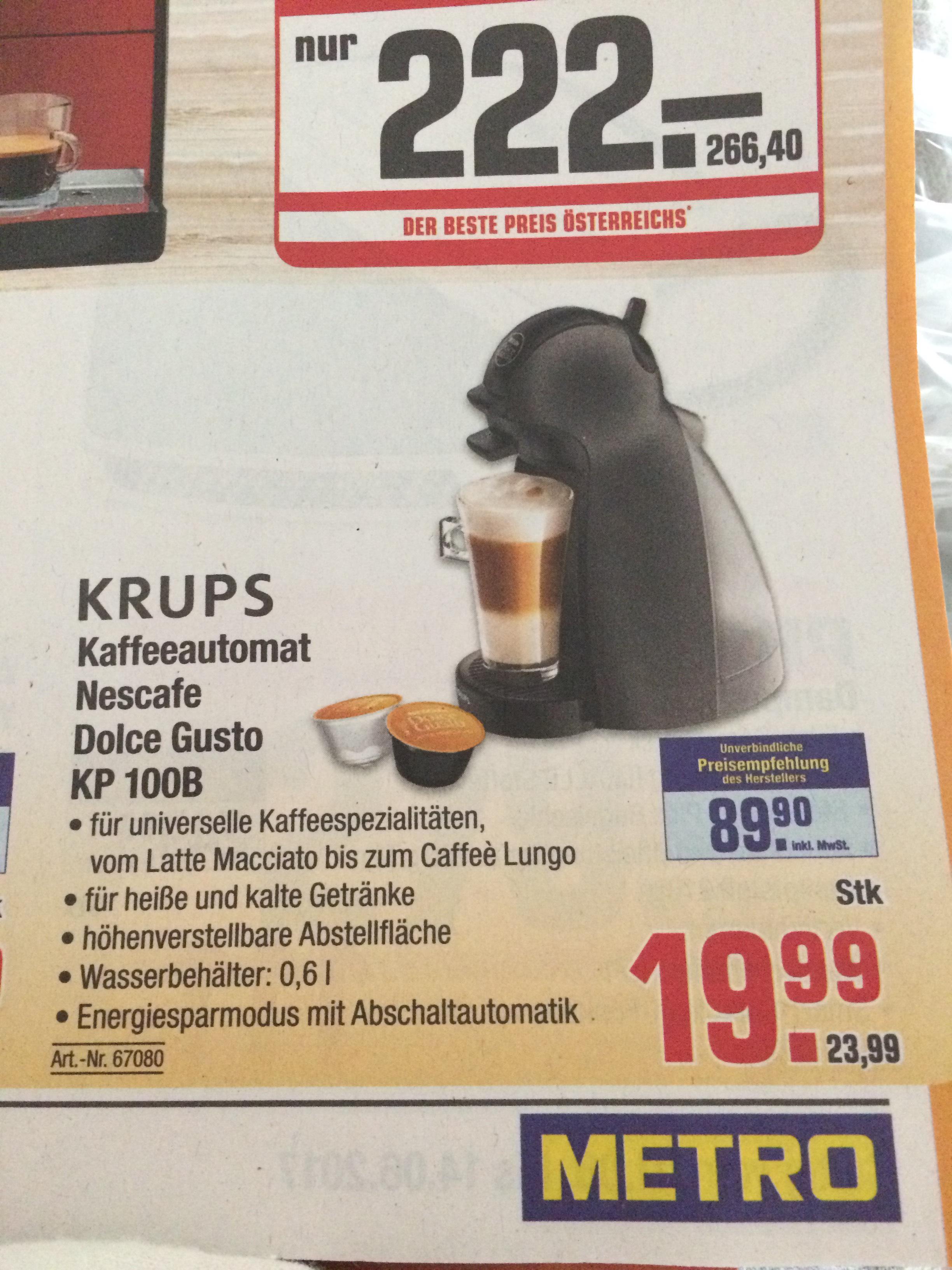 Krups Kaffeeautomat KP 100B - Metro