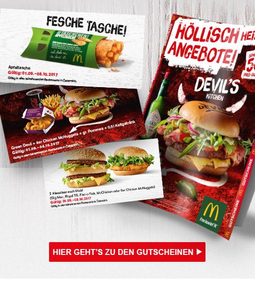 McDonalds Gutscheinheft - nur bis zum 8. Oktober 2017
