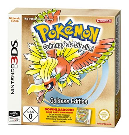 Amazon.de (Prime): Pokémon Gold od. Silber für Nintendo 3DS um 8,08€