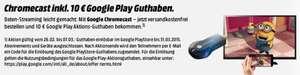 Streaming-Stick Google Chromecast inkl. 10 € Play Store-Guthaben für 35 € *Update*