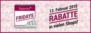 """Freeport Fashion Outlet: """"Valentinstag-Special"""" mit bis zu 70% Rabatt - am 13.2.2015"""