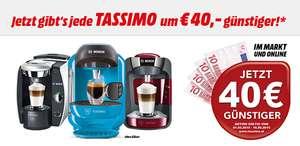 40 € Sofortrabatt auf ausgewählte Kaffeemaschinen von Tassimo