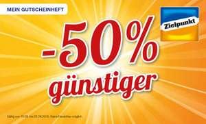 [Zielpunkt] 50% Gutscheinheft mit z.B. Hornig Kaffee 500g für 3,74€