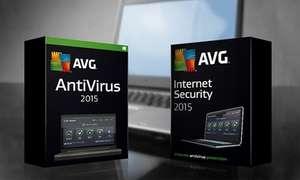 AVG - AntiVirus 2015 um 12,90 € / Internet Security 2015 um 24,90 € - bis zu 58% sparen