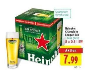 Heineken 0,33 Liter -50 % + ein 0,33 Liter Heineken Glas gratis