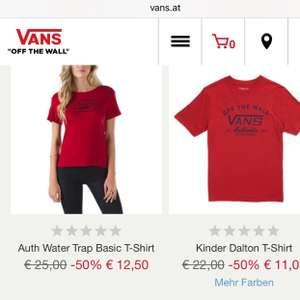 [VANS.at] VANS FASHION SALE [VANS Artikel, Bereits ab 6,- Euro] auf Taschen, Rucksäcke, Caps, T-Shirts, Schuhe, ..