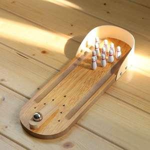 Mini Bowling Set aus Holz inkl. Versand