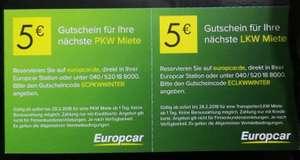 Europcar 5 EUR für PKW und LKW