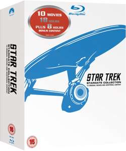 Star Trek 1-10 - Remastered Box Set [12x Blu-ray] für 27,77 EUR inkl. Versand