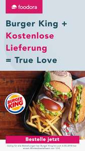 Foodora: GRATIS Lieferung bei Burger King