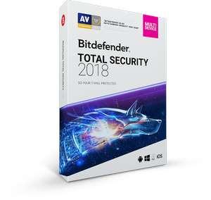 Bitdefender Total Security 2018 - 3 oder 6 Monate gratis