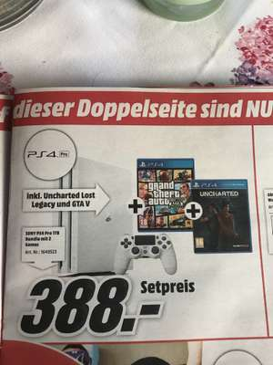Ps4 Pro + 2 Spiele (Gta V & uncharted)