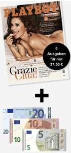 (Geiler Preisjäger) Playboy Abo (6 Ausgaben) für 37,50 € + 35,00 € Verrechnungsscheck