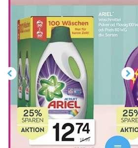 Bipa 25% auf Waschmittel z.b.: Ariel 100 WG 12,74€