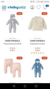 Süße Baby/Kleinkind - Kleidung -70% Rabatt bei Baby Walz