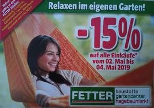 [handwerklicher Preisjäger] in den Fetter Baumarkt  Filialen - 15% vom 2.5.-4.5.2019!