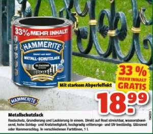 Rostfreier Deal - Hammerite im 1L Gebinde für 18,99€