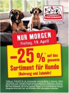Fressnapf: -25% auf das Sortiment für Hunde in den Filialen