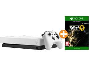 Xbox One X 1 TB Robot White Special Edition Fallout 76 Bundle + Assassin's Creed Odyssey für 366€