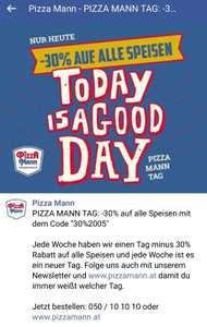 Pizzamann: -30% auf alle Speisen