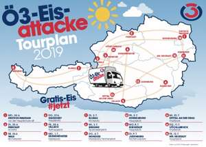 Gratiseis für alle bei der Ö3-Eisattacke ab 24. Juni