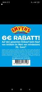 Smythtoys Graz - 6€ Rabatt bei 25€ MBW
