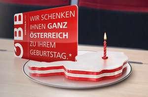 Am Geburtstag mit der ÖBB KOSTENLOS in ganz Österreich reisen - NUR für Vorteilscardbesitzer!!!