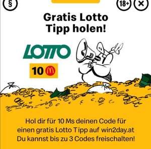 "[Mc Donald's] ""Gratis"" Lotto-Tipp für 10Ms"