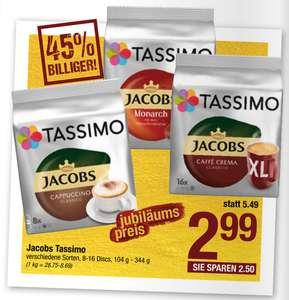 Tassimo Kapseln vers. Sorten (8-16 Discs) á 2,99 €