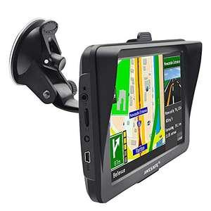 AWESAFE GPS 7 Zoll Navigationsgerät mit Lebenslangen Kostenlosen Kartenupdates in 52 Ländern