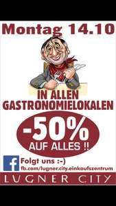 Lugner City -50% Gastronomie
