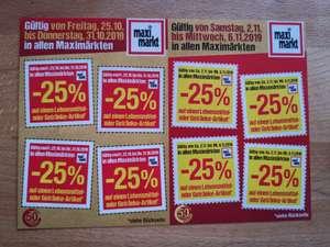 Maximarkt -25% Sticker (Lebensmittel und Getränke)