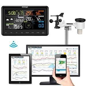 Sainlogic WS3500 plus - Professionelle Wetterstation (Windgeschwindigkeit, Sonneneinstrahlung und UV-Strahlung, ...)
