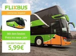 100.000 Bus-Tickets ab 5,99 € - nur über die App - bis 5.1.2020 (Reisezeitraum: 7.1.-5.2.2020)