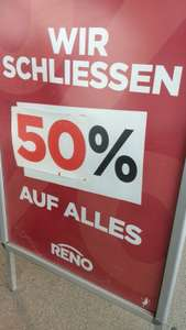 RENO-Schuhe: - 50 % auf ALLES | G3-nahe Filiale schliesst