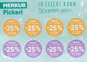 Merkur 25% Pickerl ab 13.02 - 19.02 & 20.02 - 26.02